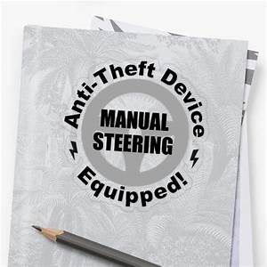Automotive Sticker  Manual Steering Anti Theft Device In