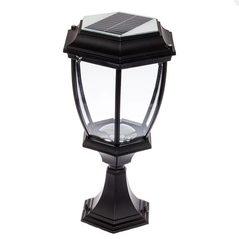 solar led outdoor l post solar 12 led outdoor garden l column post topper