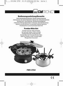 Clatronic Fws 2763 Grill Download Manual For Free Now