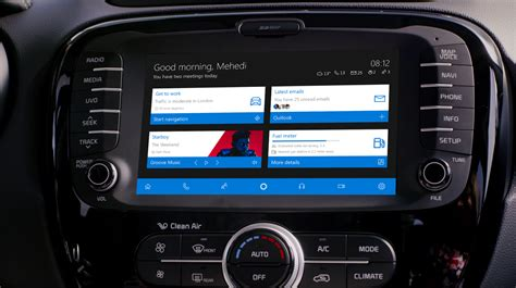 windows 10 in the car concept imagines a infotainment system powered by windows 10 mobile
