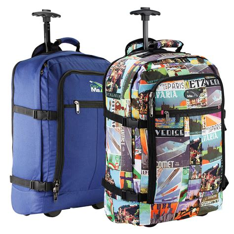 cabin trolley backpack wheeled cabin bag luggage trolley backpack suitcase