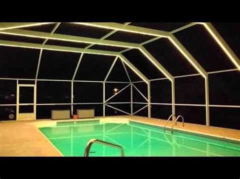 pool enclosure lighting led lighting pool enclosure lighting