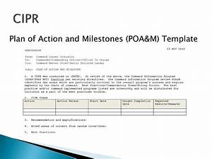 old fashioned poam template sketch example resume and With plan of action and milestones template