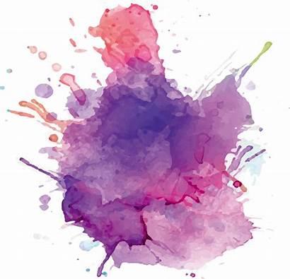 Watercolor Splatter Paint Purple