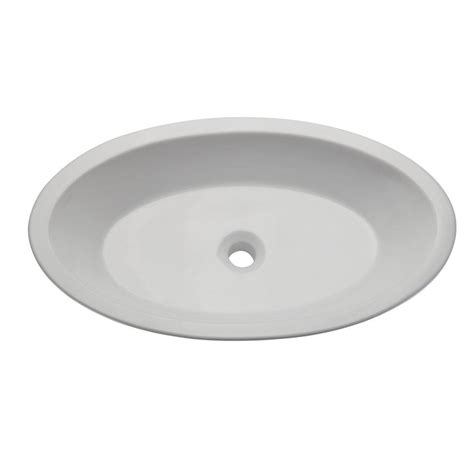 Decolav Sinks Home Depot by Ryvyr Vessel Sink In White Cve3151rc The Home Depot