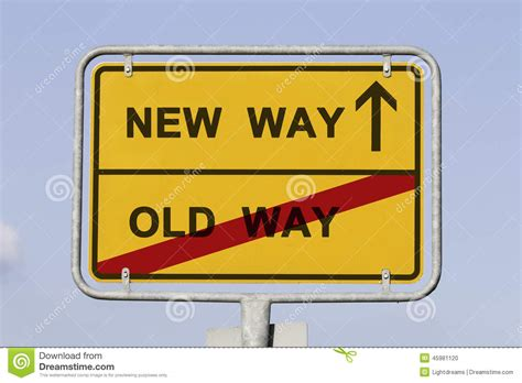 New And Old Way Stock Photo  Image 45981120