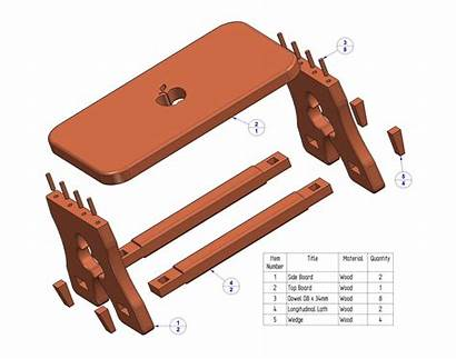 Stool Rustic Plans Parts Step Plan Wooden