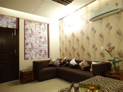 wallpaper design for home interiors interiors of a sle flat by kirat dhillon architect in