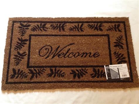 Outdoor Welcome Door Mats by Large Welcome Door Mat Indoor Outdoor 100 Coir Floor