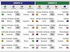 Fechas y Horarios 1º Ronda Mundial Brasil 2014 Diario Actual
