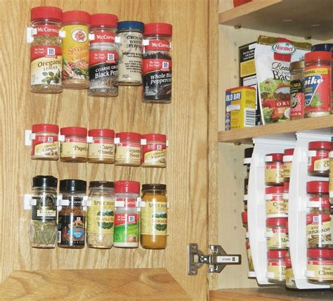 Spice Storage For Cupboards by Kitchen Rv Spice Gripper Clip 20 Jar Rack Storage
