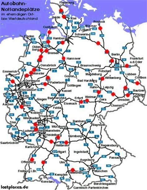 Raststätten A2 Karte