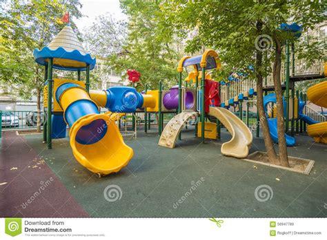 Modern Children's Playground In The Courtyard Apartment