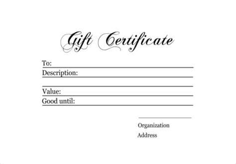 Free Downloadable Gift Certificate Templates by Gift Certificate Beneficialholdings Info