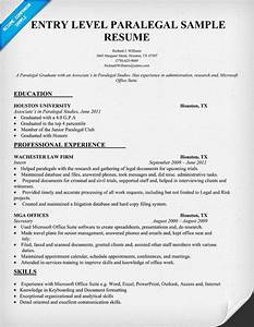 entry level paralegal resume sample resumecompanioncom With legal writing sample for paralegal