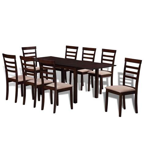 Table Extensible Chaises by Set Table Extensible Et Chaises Marron Cr 232 Me En Bois