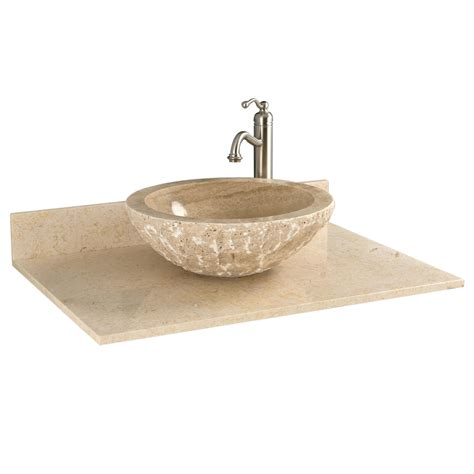 25 Marble Vanity Top For Vessel Sink No Faucet Drilling