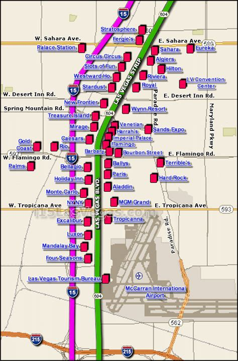 map  las vegas strip  printable maps