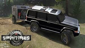 Spintires Jeep Commander Trail Crawling