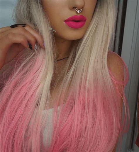 The 25 Best Pink Hair Tips Ideas On Pinterest Blonde