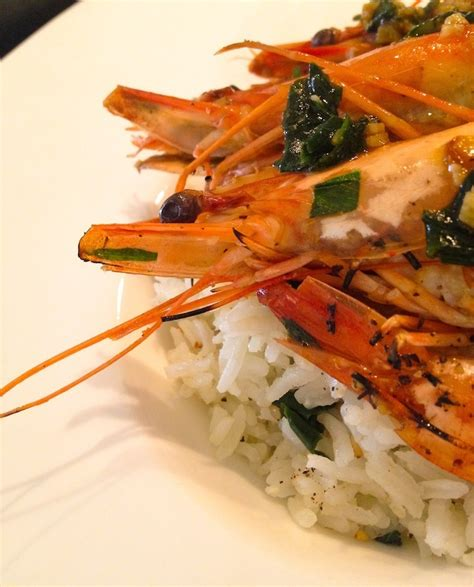 cuisine sauvage recettes loulougourmet gambas ail des ours whisky