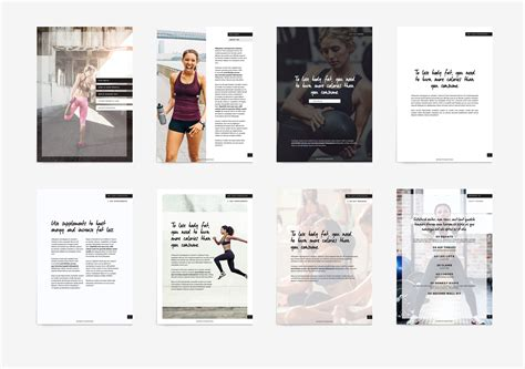 Ebook Template Fitness Modern Ebook Template Template And Indesign