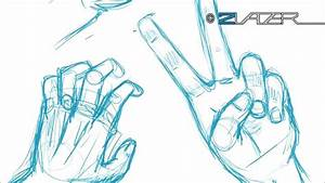 How 2 Draw Manga Tutorial - The Hand (German with English ...