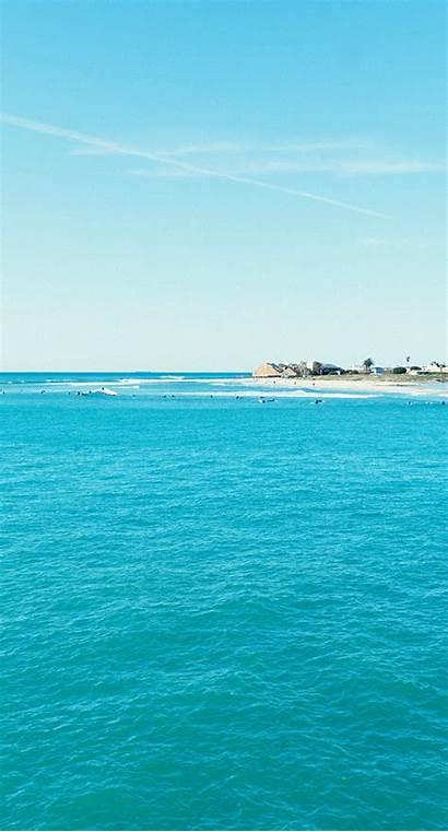 Laut Biru Langit Pemandangan Azul Sc Iphone