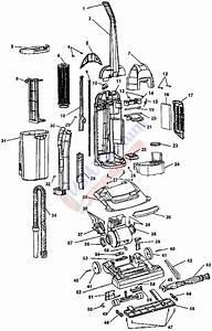 Hoover U5280 Windtunnel Bagless Upright Vacuum Parts