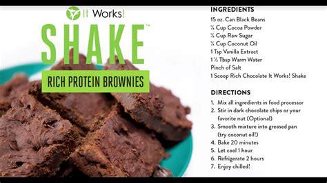 gateau brownie proteine avec  works shake youtube