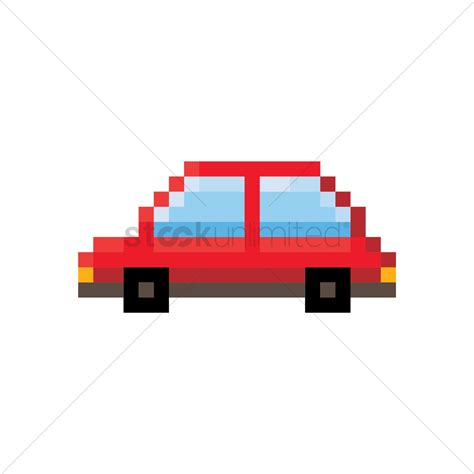 Pixel Car by Pixel Car Vector Image 1957783 Stockunlimited