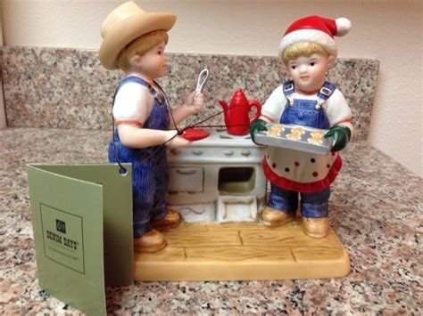 home interior denim days figurines denim days cookies for santa figurine home interiors