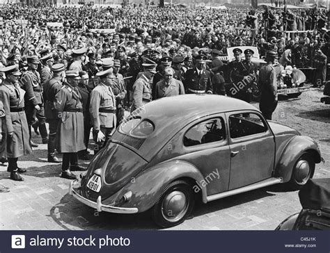 ferdinand porsche beetle adolf and ferdinand porsche with a kdf car 1938