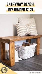 Make, This, Gorgeous, Diy, Entryway, Bench, For, Under, 12, U00bb, Never, Skip, Brunch