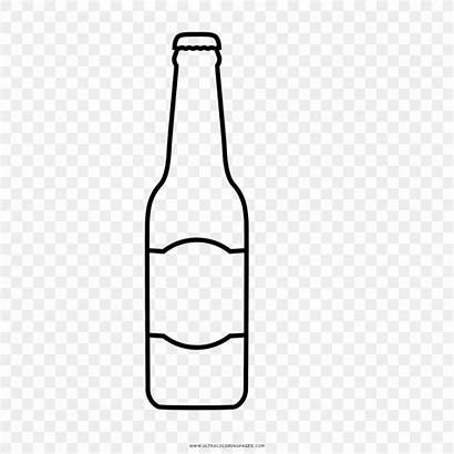 Beer Bottle Drawing Glass Coloring Botella Dibujo
