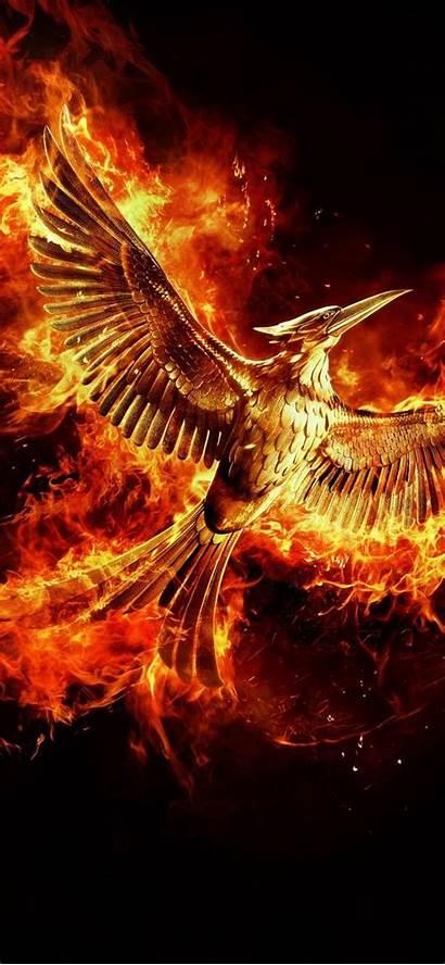 Phoenix Iphone Bird Wallpapers Backgrounds Fire Phone