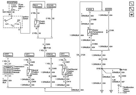 neutral start wiring diagram   gmc