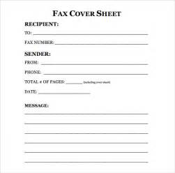 Fax Cover Sheets Templates Sle Fax Cover Sheet 9 Exles Format