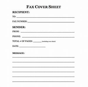 Sample fax cover sheet 10 examples format for Fax cover letter samples