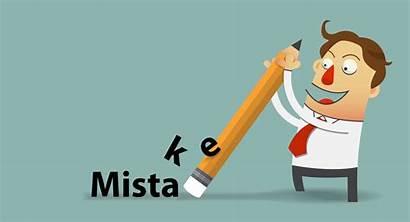 Mistakes Mistake Common Cartoon Eraser Adding Clipart