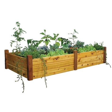 gronomics raised garden bed gronomics 48 in x 95 in x 19 in safe finish raised