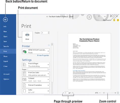 How To Print Your Entire Document In Word 2016 Dummies