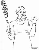 Serena Williams Coloring Pages Printable Sheets Clipart Tennis Wwe Supercoloring Racket Power Celebrate Drawing Da Colouring Player Para Drawings History sketch template