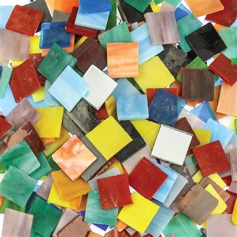 glass mosaic tiles large kg pack mosaics