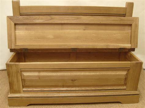 banc coffre bois banc coffre en chene massif perrine