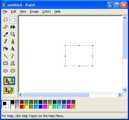 use tools and make pictures with windows paint
