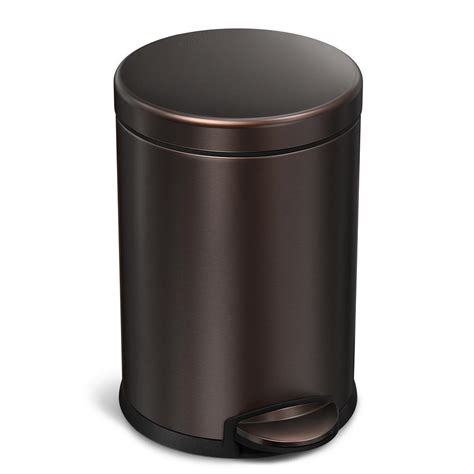 Bronze Bathroom Trash Can With Lid by Simplehuman 4 5 Liter Bronze Stainless Steel