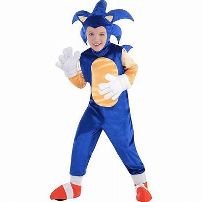 Sonic Costume Hedgehog Boys Halloween Deluxe Party