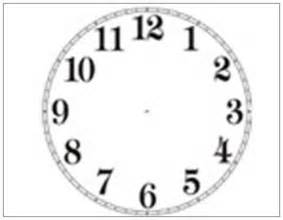 Free Printable Blank Clock Face