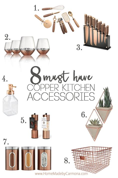 Trendy Copper Kitchen Accessories  Home Made By Carmona